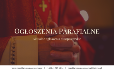 02.09.2018 Ogłoszenia parafialne XXIII niedziela A