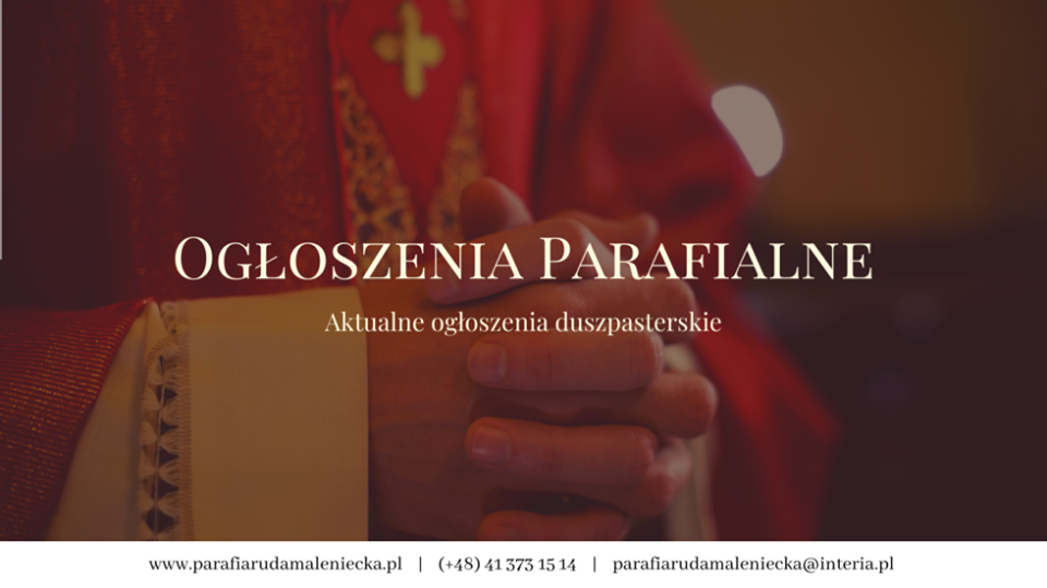Ogłoszenia parafialne 27 września na XXVI niedzielę A